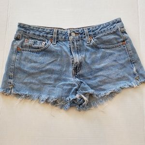 Levi Distressed Cutoff Jean Shorts Size 9